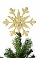 Personalised Christmas at the Stencil Cut Snowflake Christmas Tree Topper Decor