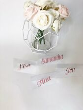 Personalised Clear rosegold name Place Card Wedding BrideToBe Wedding Stationery