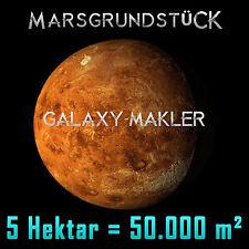 Marsgrundstück - Grundstück auf dem Mars 50.000 m² + 20 mm Swarovski Stern