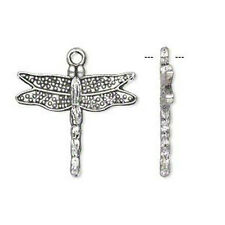 Dragonfly Charms Antiqued Silver 1 inch Lot of 20