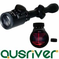 Clearance Waterproof 3-9x40E Red Green Crosshair Rifle Scope Eye Bell Lock Ring