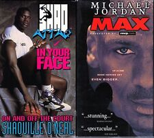 Shaq Attack - In Your Face & Michael Jordan -To The Max; 2 VHS Basketball Tapes