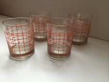 rare midcentury modern signed Georges Briard set of 4 double old fashion glasses