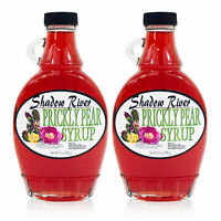 Shadow River Gourmet Prickly Pear Syrup From Real Cactus Juice 10oz Jar (2 Pack)