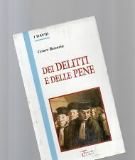 """dei delitti e delle pene - cesare beccaria - serie David la spiga"""" - libri nuovi"""