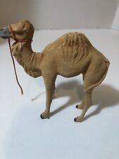 Antique Putz Camel German Germany Stick Leg Composition Nativity Toy 5� Tall