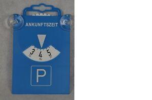 1 Stück Parkscheibe mit Saugnapf aus Kunststoff 84511 Blau