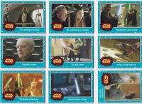 STAR WARS JOURNEY TO THE FORCE AWAKENS BASE SET 110 CARDS BLUE STARFIELD