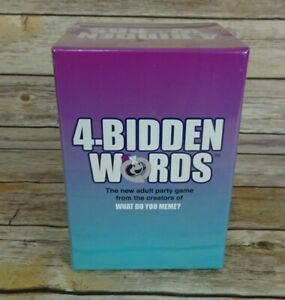 4-Bidden Words Adult Party Game Pack by What Do You Meme? NEW IN BOX