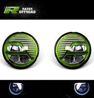 AngryBird LED GREEN Headlight DRL+Hi+Lo Beam+Cree LED for 97-06 Jeep TJ Wrangler