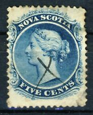 """1860 Canada Nova Scotia VF used single stamp """"Queen Victoria"""" Sc.# 10"""