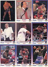 KAYO BOXING 1991 KAYO LTD. PARTIAL BASE CARD SET 248/250 SP
