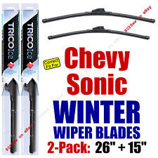 WINTER Wipers 2pk Premium - fit 2012-2016 Chevrolet Chevy Sonic - 35260/150