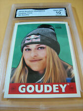 LINDSEY VONN SKIING 2016 UD GOODWIN CHAMPIONS GOUDEY # 9 GRADED 10 L@@@K