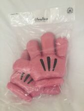 DISNEY PARKS MINNIE MOUSE PLUSH SHINY PINK HALLOWEEN COSTUME GLOVES MITTS NEW