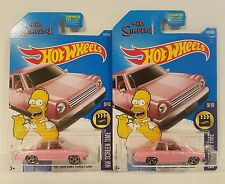 Hot Wheels THE SIMPSONS Pink Family Car Screen Time lot of 2