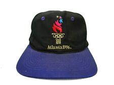 Vintage 90's 1996 Olympic Games 100 Atlanta Georgia USA Flag Snap-back hat cap