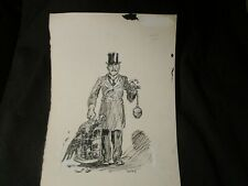 Cesare-Original Political Cartoon-WWI Michaelis Shows Peace but Ready for War