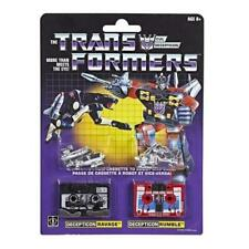 Transformers Ravage and Rumble Cassette Soundwave G1 Walmart Reissue Hasbro New