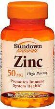 Sundown Zinc 50 mg Caplets 100 Caplets (Pack of 8)