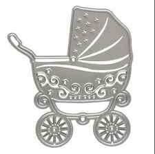 Metal Baby Carriage Cutting Dies Stencil For DIY Scrapbooking Paper Cart Decor
