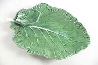 Bordallo Pinheiro Green Cabbage Leaf Small Chip Dip Vegetable Dish Portugal 1614