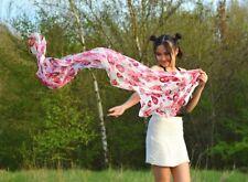 Luxury 100% Silk Scarf Art Accessory Rose Floral Hijab Arabic Women Fashion