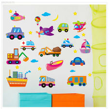 Cartoon Cars Vehicle Kids Room Home Decor Removable Wall Stickers Decals Decor