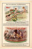 1911 ORIGINAL VINTAGE MUNSINGWEAR BY THE NORTHWESTERN KNITTING COMP MAGAZINE AD