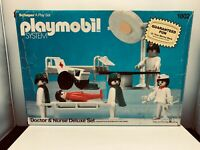 Rare Vintage Playmobil Set 1802 (1980) Doctor & Nurse Deluxe Set - Incomplete