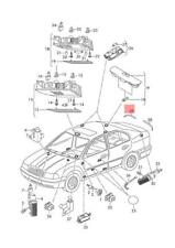 Genuine Rear Bumper Marker Reflector O/S SKODA Rapid 5JJ945106