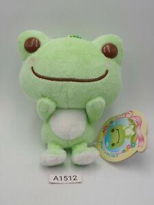 "Pickles The Frog A1512 Green Nakajima Mascot Keychain Sk Japan Plush 5"" TAG Toy"