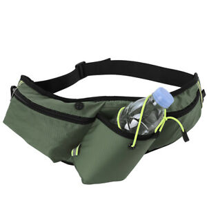 Running Belt Waist Pack Fanny Pouch Water Bottle Holder For iPhone 13 Pro Max US