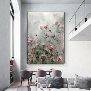 YA1269 Decor art canvas Large Pure Hand-painted oil painting Flower