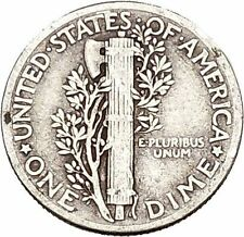 Mercury Winged Liberty Head 1943 Dime United States Silver Coin Fasces i43137