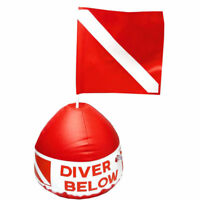Scuba Diving Diver Below Inflatable Signal Floater Float Dive Flag Bouy Ball NEW