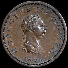 George III. Bronzed Pattern Halfpenny, 1806. Plain Edge. Soho Mint.