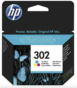 HP 302 Tri-color Original Ink Cartridge For DeskJet 1110 Printer Lot