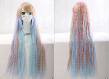 W-35 couleurs pastel pastel Mix 85cm Harajuku lolita Boucles cosplay perruque wig