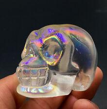 Beautiful Angel Aura Quartz crystal Silver Coated Rainbows --- crystal skull