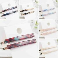 2X Chic Women Acrylic Hair Clip Snap Barrette Stick Hairpin Bobby Hair Accessory