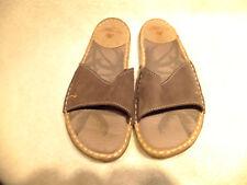 MARGARITAVILLE Brown Suede Leather Slides Sandals Womens 7M Super Nice