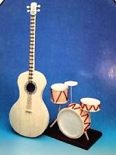 Guitar and Drum Set Matchstick Model Craft Kit by Hobby's