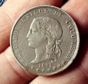 1881 Cinco (5) Decimos Medellin
