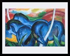 Franz Marc Die grossen blauen Pferde Poster Bild Kunstdruck & Alu Rahmen 56x71cm