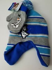 Nickelodeon PAW Patrol Skye Puppy 2T - 4T Hat & Mittens Knit Pink Striped  NWT