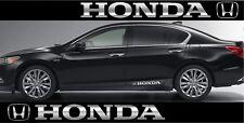 2x Honda Seitenaufkleber Chrom Folie Sticker Aufkleber Tuning Logo Emblem