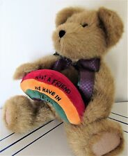 BOYD'S BEAR W/ TAG WHAT A FRIEND WE HAVE IN JESUS A. PROMISE THINKIN OF YA SERIE
