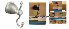 Moen Caldwell Double Hook Towel Hook Brushed Nickel OR  Mediterranean Bronze