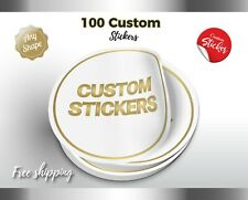 100 CUSTOM WATERPROOF STICKERS FOR Products, LOGO STICKERS LABELS, VINYL LABEL